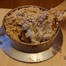 自作のかまどで鶏そぼろ釜飯を炊く(レシピ)